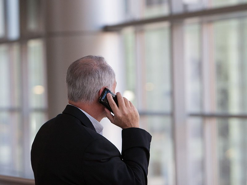 Elderly Man on Phone